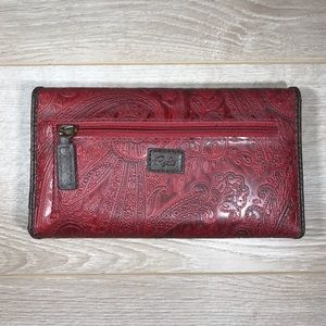Relic Wallet - Red with Floral Paisley Pattern